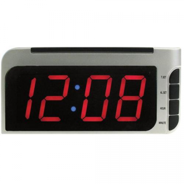 Elgin 4537E Bedside Alarm Clock with Auto-Set - Walmart.com
