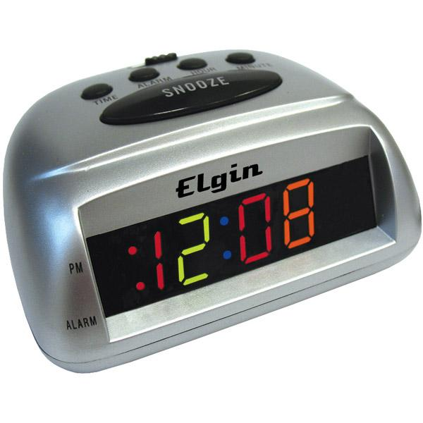 Elgin Electric Alarm Clock Multicolor LED Display New | eBay