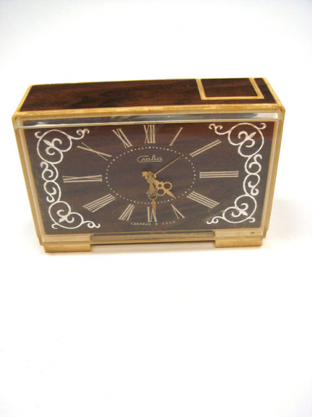 Vintage Soviet Alarm clock Desk Accessory Soviet by GrandpasParty