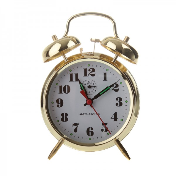 AcuRite Vintage Twin Bell Alarm Clock 15605
