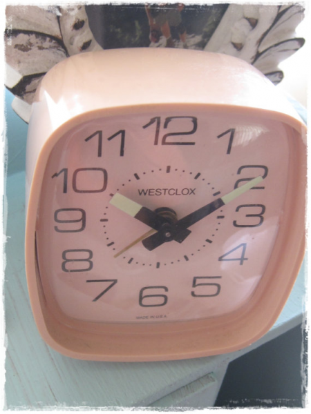 VINTAGE Baby Pink Westclox Alarm Clock by boubelina2 on Etsy