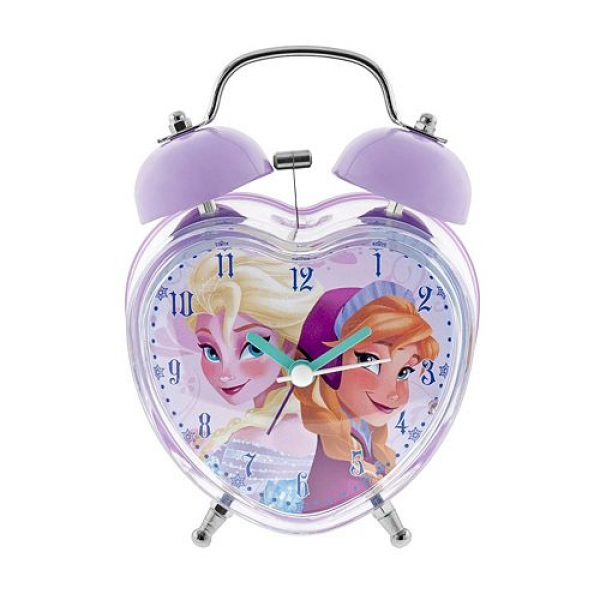 ... up with this charming Anna and Elsa alarm clock from Disney's Frozen