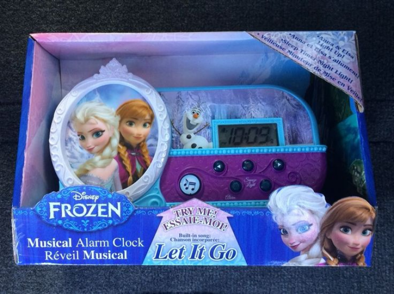 Disney Frozen Musical Alarm Clock BRAND NEW JUST RELEASED Elsa & Anna ...