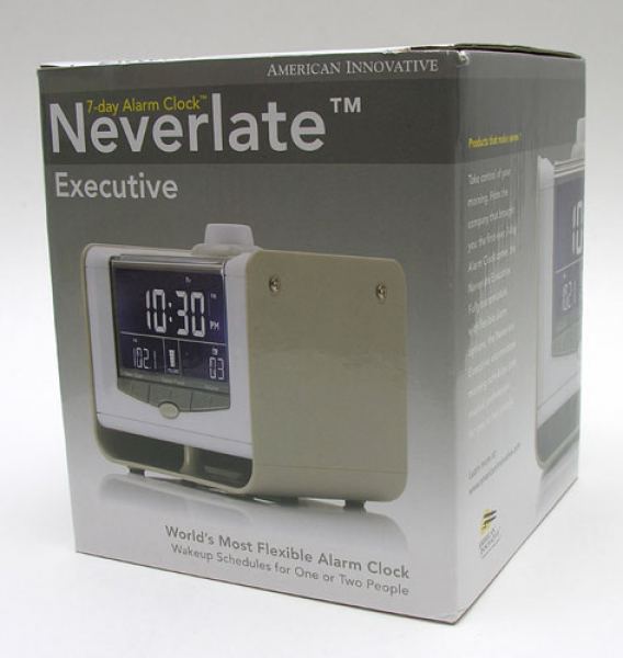American Innovative Neverlate Executive 7-day Alarm Clock Review