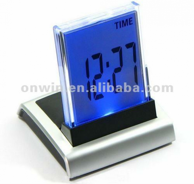 Digital LCD Big Number Time Colors Changed LED Small Alarm Clock For ...