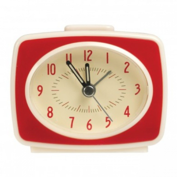 Home > Vintage TV Style Alarm Clock (Red)