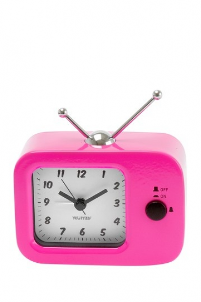 Pink Retro TV Alarm Clock by Funky Decor and Lighting on @HauteLook