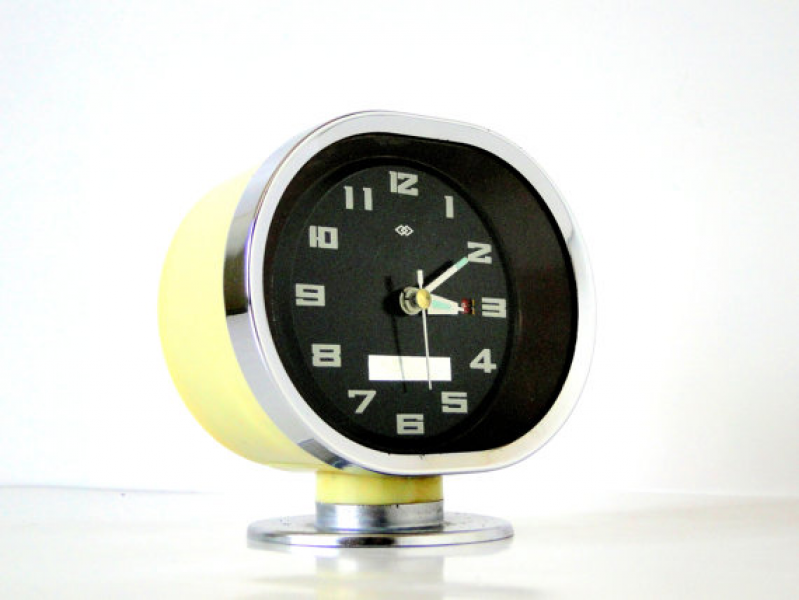 ... similar to SPACE AGE - Oval - TV - Shaped Retro Alarm Clock on Etsy