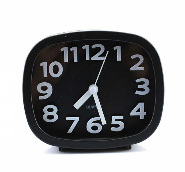 ... Ultra Silent Alarm Clock 4 inch AA Battery Black-in Alarm Clocks from