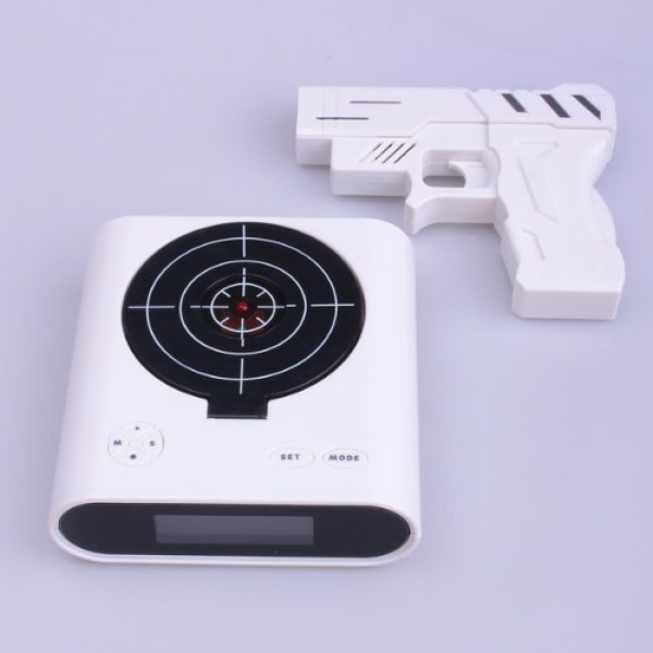 Laser Target Gun Alarm Clock with LCD from Amazon