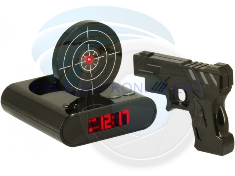 Laser Gun Alarm Clock Target Panel Shooting LCD Screen Toy Games - 30 ...
