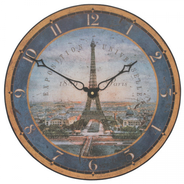 Eiffel Tower Wall Clock 36cm