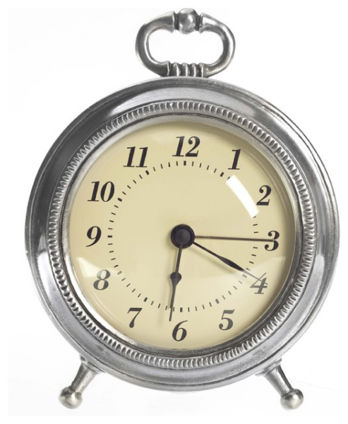 Match Pewter Toscana Alarm Clock - Traditional - Alarm Clocks - boston ...