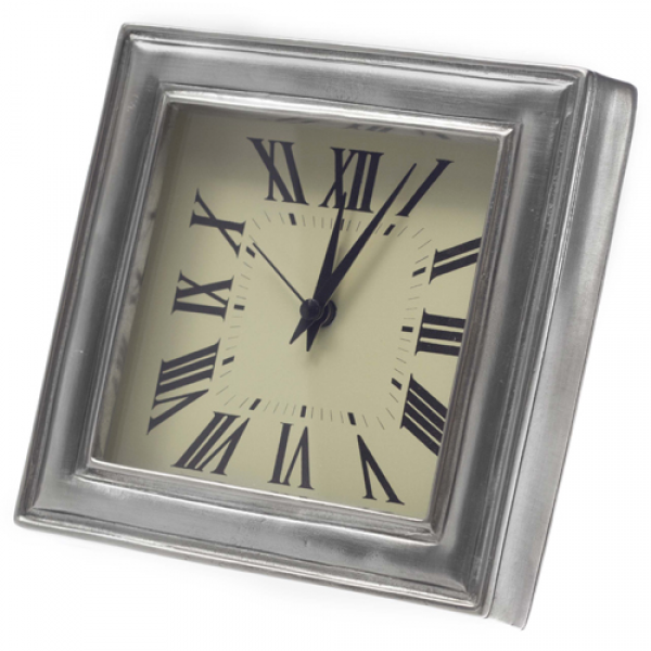 Match Pewter Square Alarm Clock 4.75 inches square