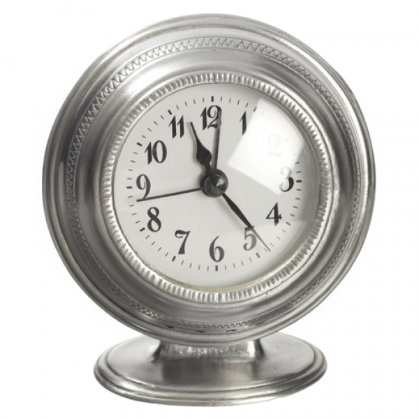 Match Pewter Round alarm clock