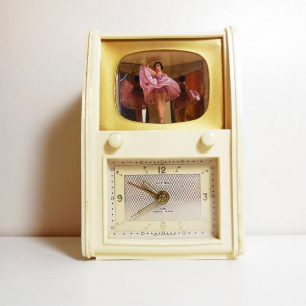 ... Music Box Alarm Clock - Florn - Germany - Jewel Musical Alarm