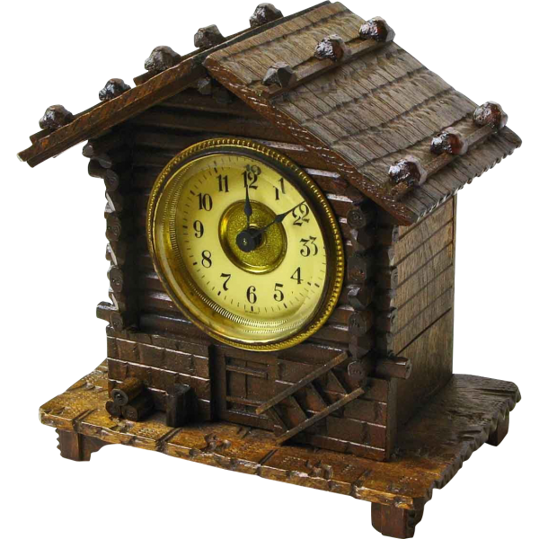 Black Forest Clock with Music Box Alarm: AntBFClock-982: Removed