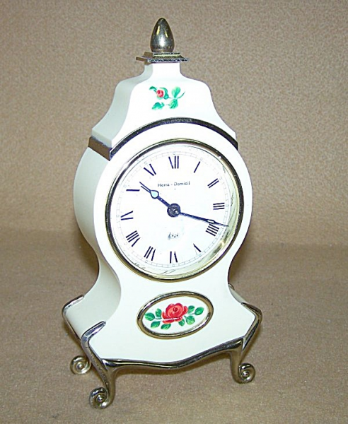 ... Floral Music Box Alarm Clock (Alarm Clocks) at Daryls Clocks Galore