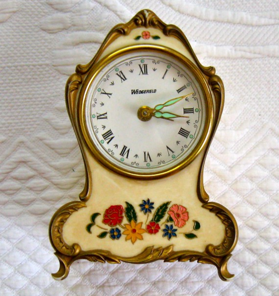 VINTAGE GERMAN CELLULOID ALARM CLOCK / MUSIC BOX not in working ...