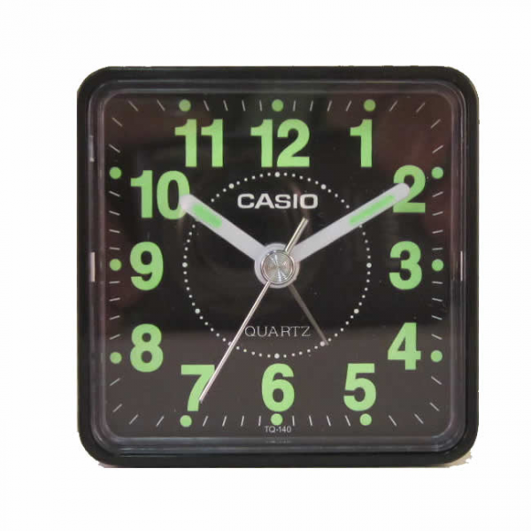 Details about NEW Casio Travel Desk Quartz Alarm Clock TQ140-1D, Small ...