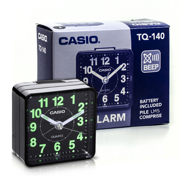 Casio Travel Quartz Beep Alarm Clock TQ140-1 (Black) Enlarged Preview