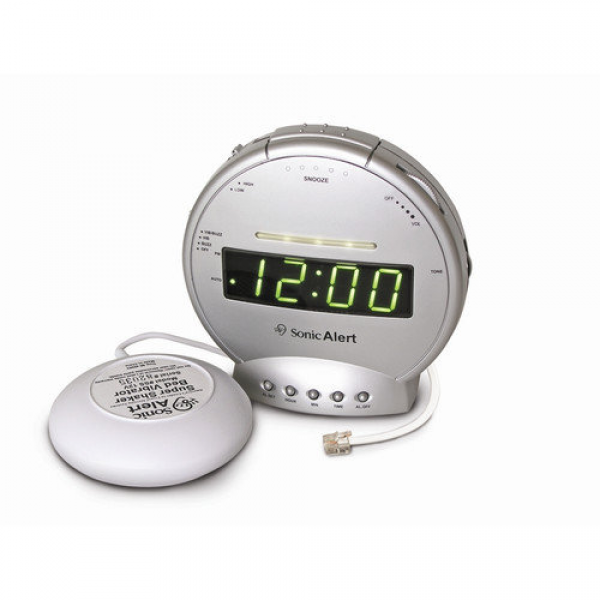 Sonic Alert Sonic Boom Vibrating Alarm Clock with Telephone Signaler ...
