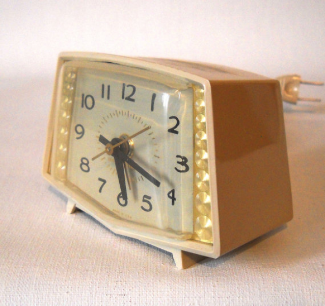 Vintage bedside alarm clock by MonarkVintage on Etsy