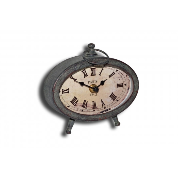 ... hangings > Clocks > Bedside vintage metal 'alarm' clock 15x7 h.13.5