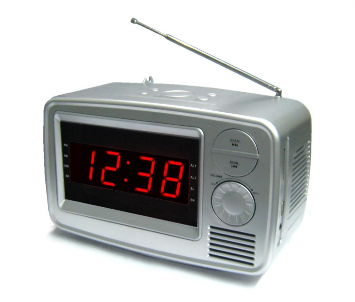 retro radio alarm clocks cool alarm clocks www top clocks com. Black Bedroom Furniture Sets. Home Design Ideas