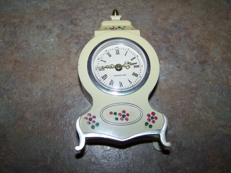 Vintage Hand Painted Plastic Westclox Wind Up Alarm Clock from ...