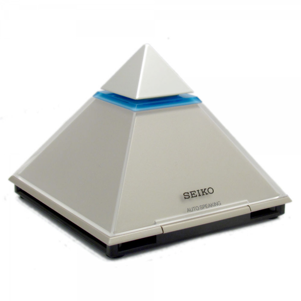 Seiko Pyramid Talking Alarm Clock for Blind or Sight Impaired QHL054S ...