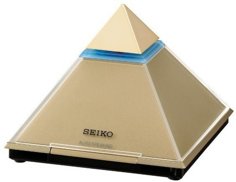 Seiko talking pyramid clock.