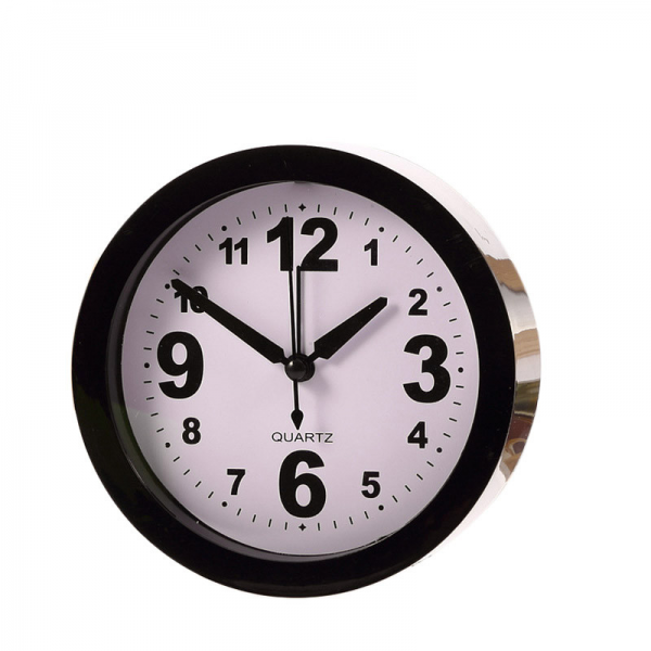 ... Round Alarm Clock Mini Quartz Desktop Plastic candy color Needle Clock