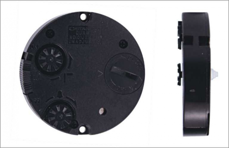 Quartz mini round alarm clock movement (AMR 012)