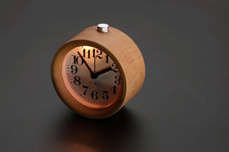 Natural Wood Desk Wooden Alarm Clock House Fashion Decoration Quartz ...