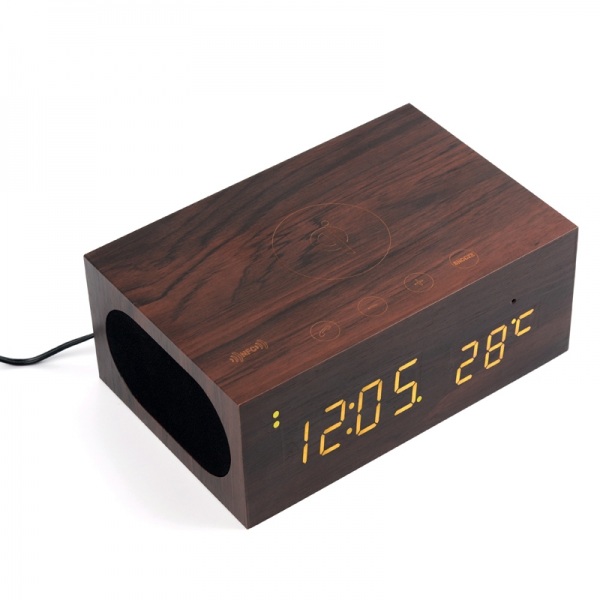 ... Natural Wood Bluetooth Speaker, Real Wood Bluetooth Alarm Clock