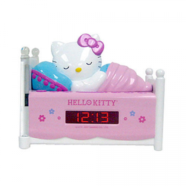 Sleeping Hello Kitty Alarm Clock Radio with Night Light - Spectra ...