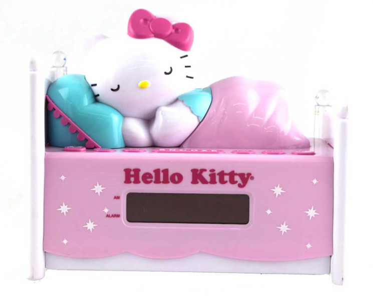 Hello Kitty Alarm Clock Radio With Night Light Sleeping Kitty