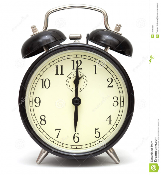 Old Fashioned Alarm Clock, Black Stock Images - Image: 33995924
