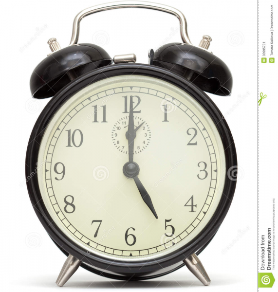 Old Fashioned Alarm Clock, Black Stock Image - Image: 33995791
