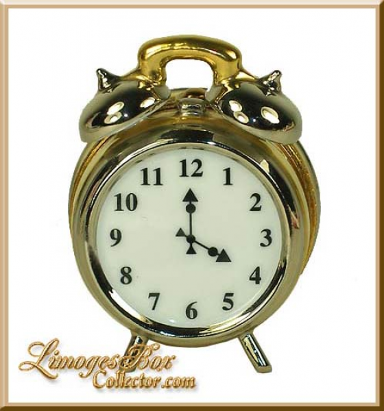 ... Furniture & Home :: Old-Fashioned Alarm Clock Limoges Box by Beauchamp