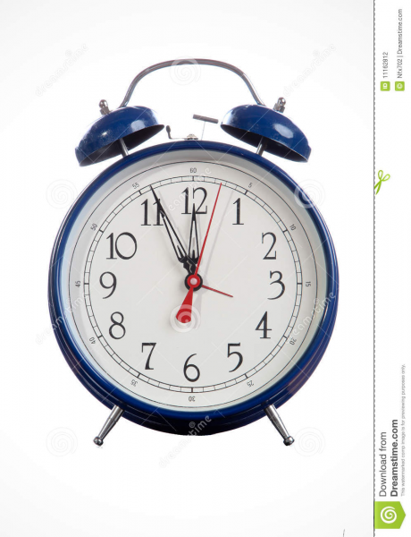 Old Fashion Alarm Clock Stock Photography - Image: 11162812