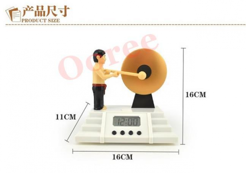 EXCLUSIVE Creative Alarm Clock Bruce Lee Knock the Gong Clocks