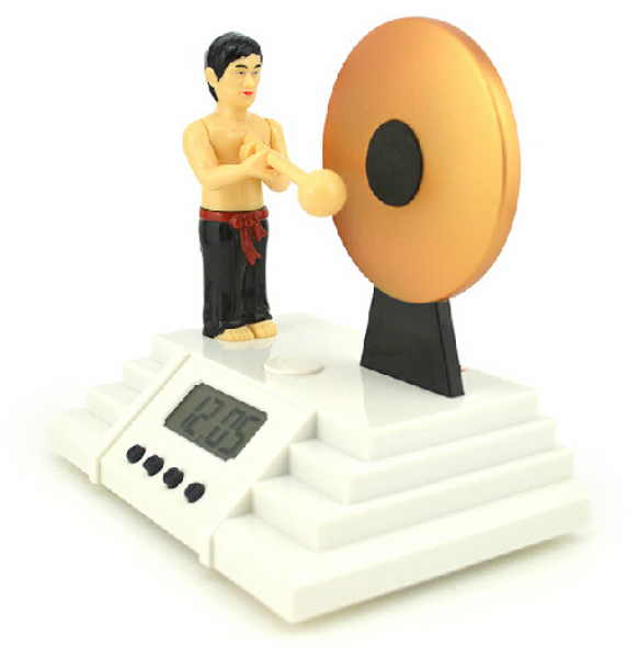 Alarm Clock Bruce Lee Knock the Gong Clocks,Free Shipping-in Alarm ...