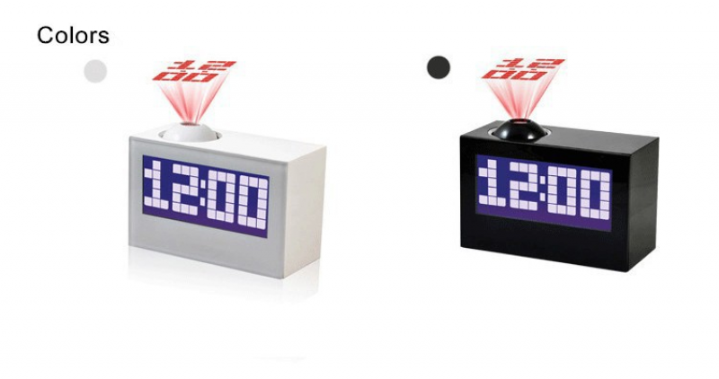 Creative projection mini plastic alarm clock HSD1137A backlight timing ...