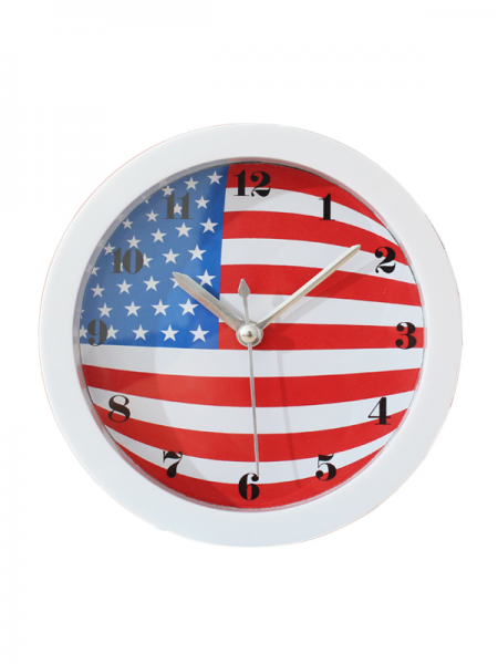 British American Flag Creative Small Alarm Clock