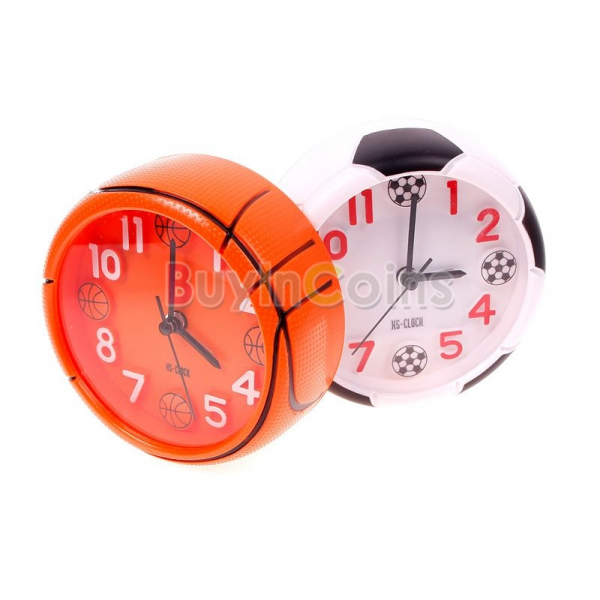 ... Cute Football Basketball Ball Style Desk Round Mini Home Alarm Clock