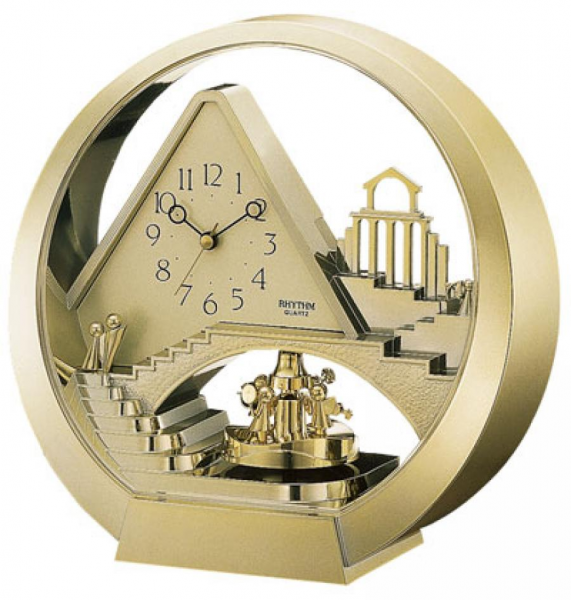 Clockway: Rhythm Desk Clock Quartz - GTM2274