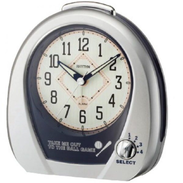 Clockway: Rhythm Musical Baseball Alarm Table Clock - GTM2294