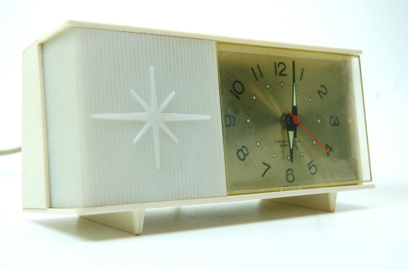 Starburst Flashing Light Moonbeam Alarm Clock 1960's by joevintage